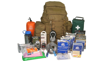 Deluxe Two-Person 72 hour Emergency GoBag® Survival Kit | download FREE resources, access quality survival kits  | Survival Kit -  be better prepared with  EVAQ8.co.uk the UK's Emergency Preparedness specialist